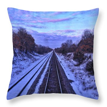Night Closing In Throw Pillow
