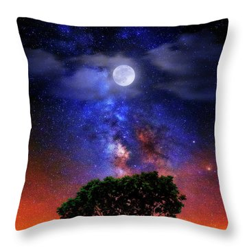 Night Colors Throw Pillow by Justin Kelefas