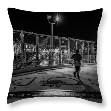 Night Commute  Throw Pillow