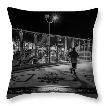 Night Commute  Throw Pillow by Jeffrey Friedkin