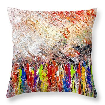 Night Covers Us Throw Pillow