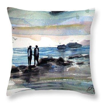 Night Dive Throw Pillow