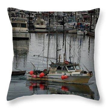 Night Drifter Throw Pillow by Randy Hall