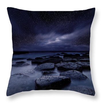 Night Enigma Throw Pillow by Jorge Maia