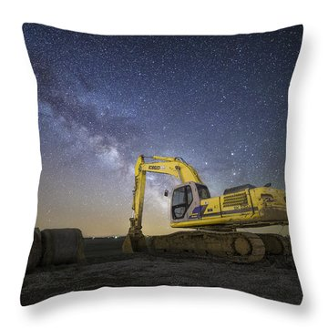 Night Excavation  Throw Pillow