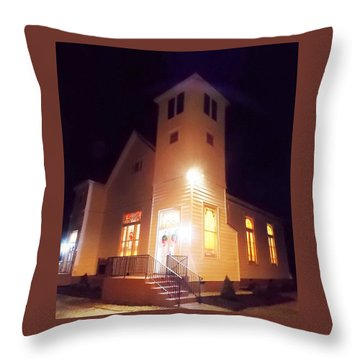 Night Exterior Throw Pillow