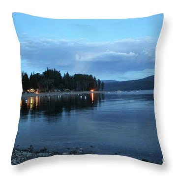 Throw Pillow featuring the photograph Night Fall by Victor K