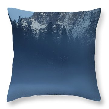 Throw Pillow featuring the photograph Night Falls Upon Half Dome At Yosemite National Park by Jetson Nguyen