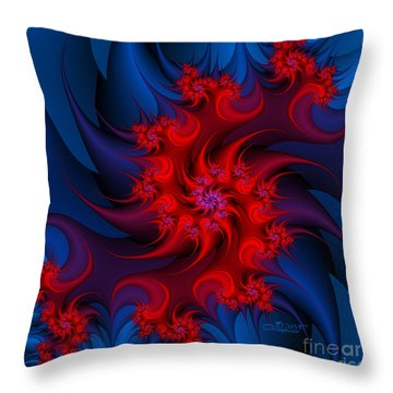 Night Fire Throw Pillow by Jutta Maria Pusl