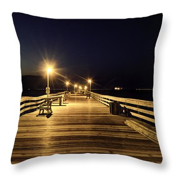 Night Fishin' Throw Pillow