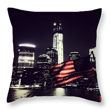 Night Flag Throw Pillow