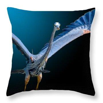 Night Flight 2 Throw Pillow