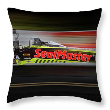 Throw Pillow featuring the digital art Night Flight by Peter Chilelli