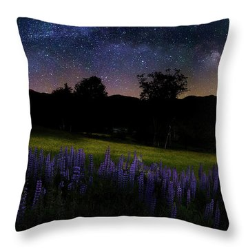 Throw Pillow featuring the photograph Night Flowers by Bill Wakeley
