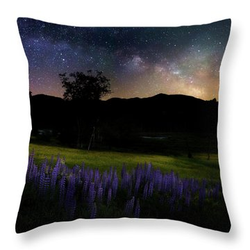 Throw Pillow featuring the photograph Night Flowers Square by Bill Wakeley