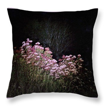 Night Flowers Throw Pillow by YoMamaBird Rhonda