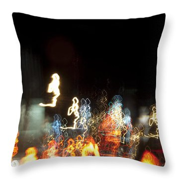 Night Forest - Light Spirits Limited Edition 1 Of 1 Throw Pillow
