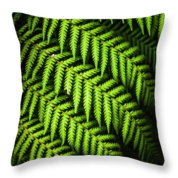 Night Forest Frond Throw Pillow