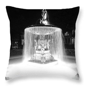 Night Fountain Throw Pillow