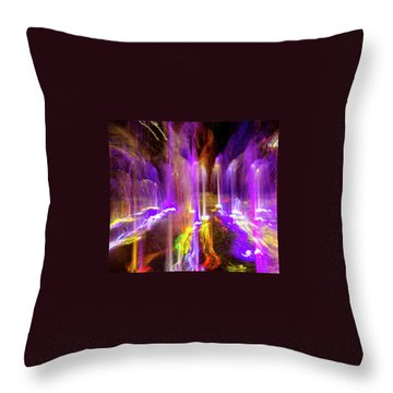 Night Fountain  Throw Pillow