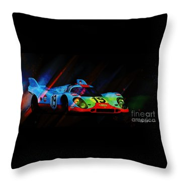 Night Games Throw Pillow