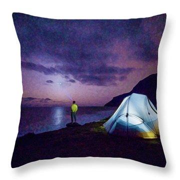 Night Gazer Throw Pillow