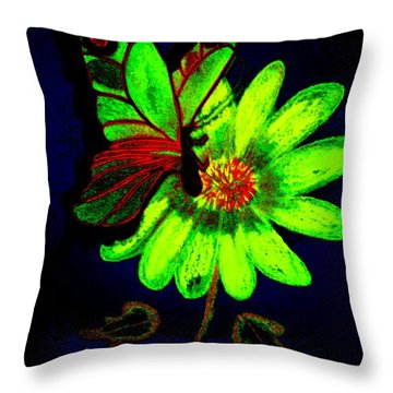 Night Glow Throw Pillow by Maria Urso