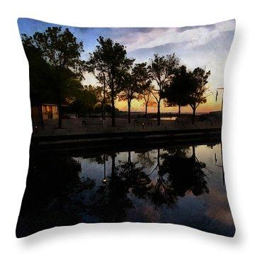 Night Harbour Throw Pillow