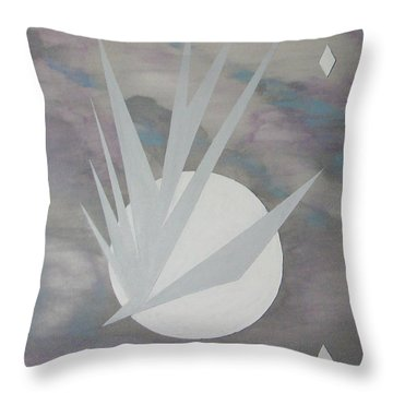 Throw Pillow featuring the painting Night Hawke II by J R Seymour