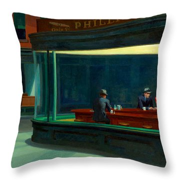 Night Hawks Throw Pillow
