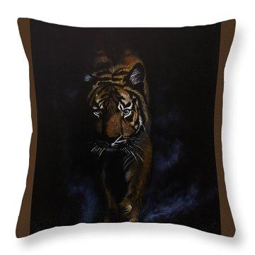 Night Hunter Throw Pillow by Jean Yves Crispo