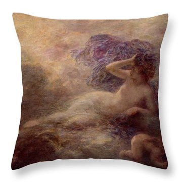 Night Throw Pillow by Ignace Henri Jean Fantin Latour
