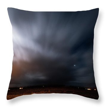 Throw Pillow featuring the photograph Night In Iceland by Dubi Roman