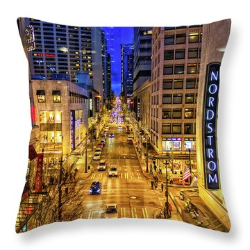 Night In Seattle Throw Pillow