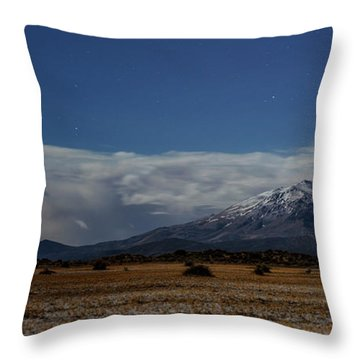 Throw Pillow featuring the photograph Night In The Alvord Desert by Cat Connor