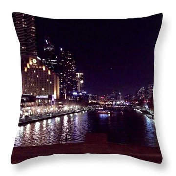 Night In The City Throw Pillow by Chi Nguyen