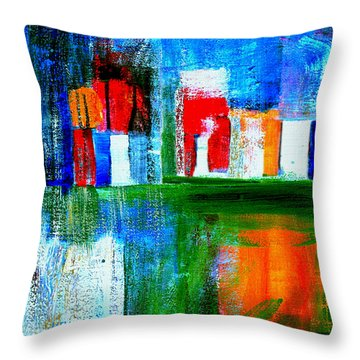 Night In The City Nyc Throw Pillow