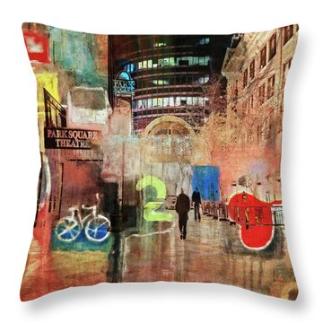 Throw Pillow featuring the photograph Night In The City by Susan Stone