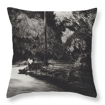 Night In The Park Throw Pillow