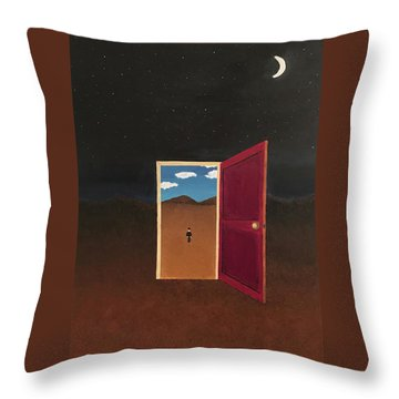 Night Into Day Throw Pillow by Thomas Blood
