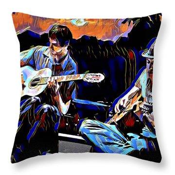 Night Jammin Throw Pillow
