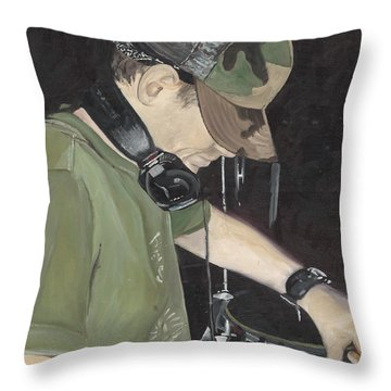Night Job Throw Pillow