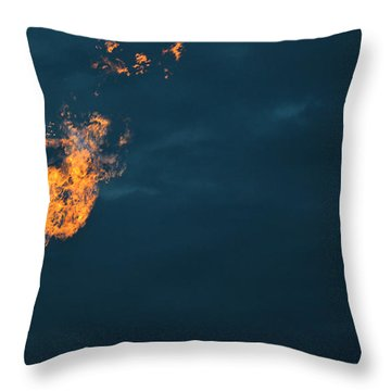 Throw Pillow featuring the photograph Night Light by Carl Young