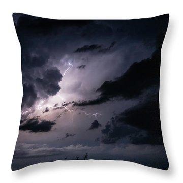 Night Lightening Throw Pillow