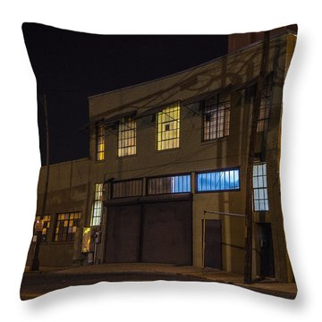 Throw Pillow featuring the photograph Night Lights by Break The Silhouette