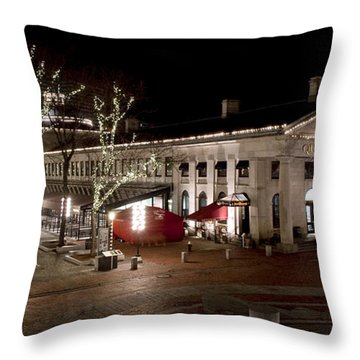 Night Market Throw Pillow