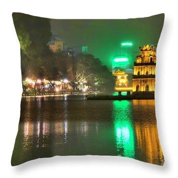 Night Moods Turtle Tower Hanoi Throw Pillow
