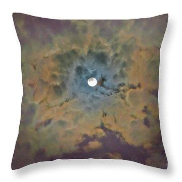 Night Moon Throw Pillow