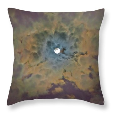 Throw Pillow featuring the photograph Night Moon by Wanda Krack