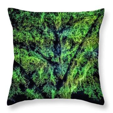 Night Moss Throw Pillow
